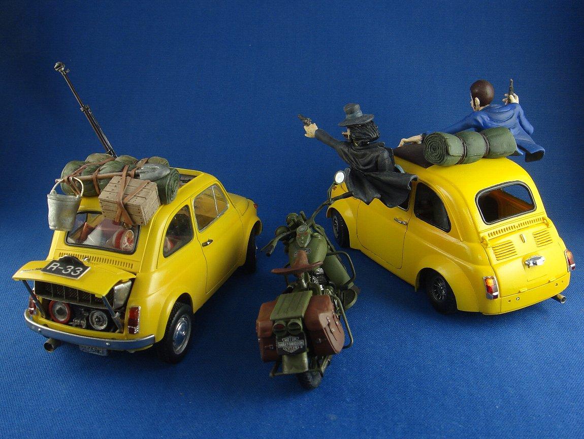 ルパンの愛車、ベンツはタイヤ以外はフルスクラッチです。  #バックショット晒すとRTが来る #ルパン三世