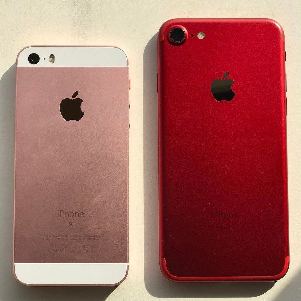 rose gold iphone se vs product red iphone 7 which. Black Bedroom Furniture Sets. Home Design Ideas
