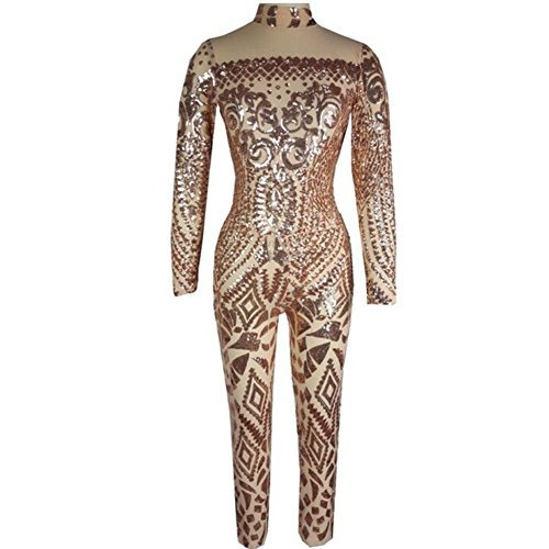 #fashion #free #style #win #giveaway VIVOSKY Women Sequin Jumpsuits Geometric Tattoo Bodycon Club Rompers Bodysuit #rt