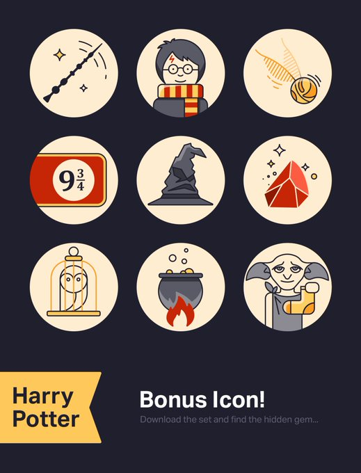 Harry Potters Icons free freebie freebies graphic harrypotter icons
