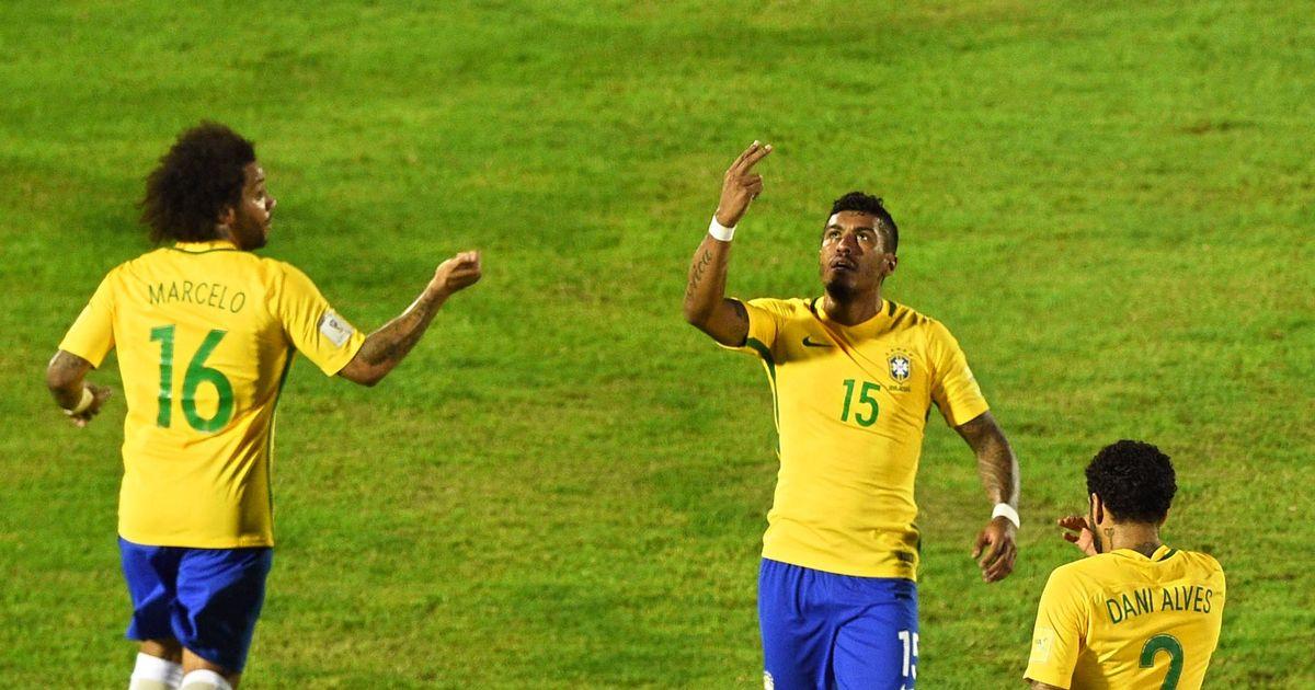 Uruguay 1-4 Brazil: Ex-Spurs star Paulinho nets hat-trick as Neymar pulls the strings for visitors