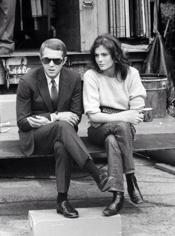 "#botd Steve McQueen, seen here with Jacqueline Bisset on the set of ""Bullitt"" (Peter Yates, 1968). Photo by Barry Feinstein https://t.co/NuV9X6rW0W"