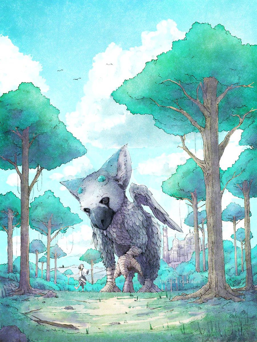 また人喰いの大鷲トリコを題材に描いてみた。#人喰いの大鷲トリコ #TheLastGuardian