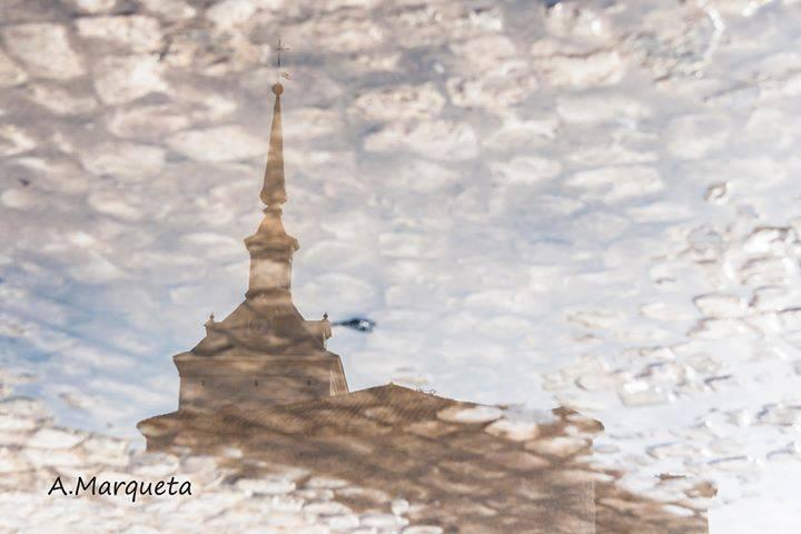 La lluvia y la iglesia de Colmenar de Oreja permiten ver fotografías como esta de Antonio Marqueta, gracias :-) https://t.co/JKbIfS1w7x