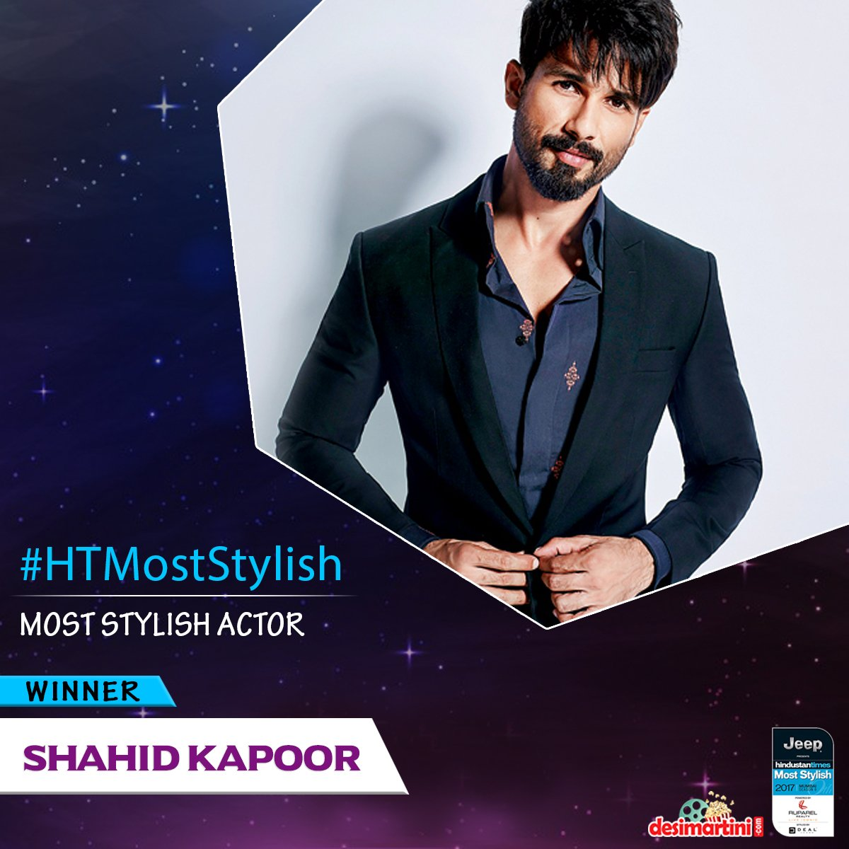 Most Stylish Actor award goes to @shahidkapoor #HTMostStylish