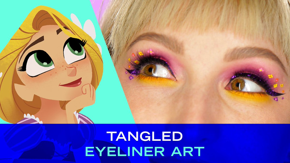 This makeup is a dream! See the premiere of #TangledTheSeries on @DisneyChannel at 730 p.m.