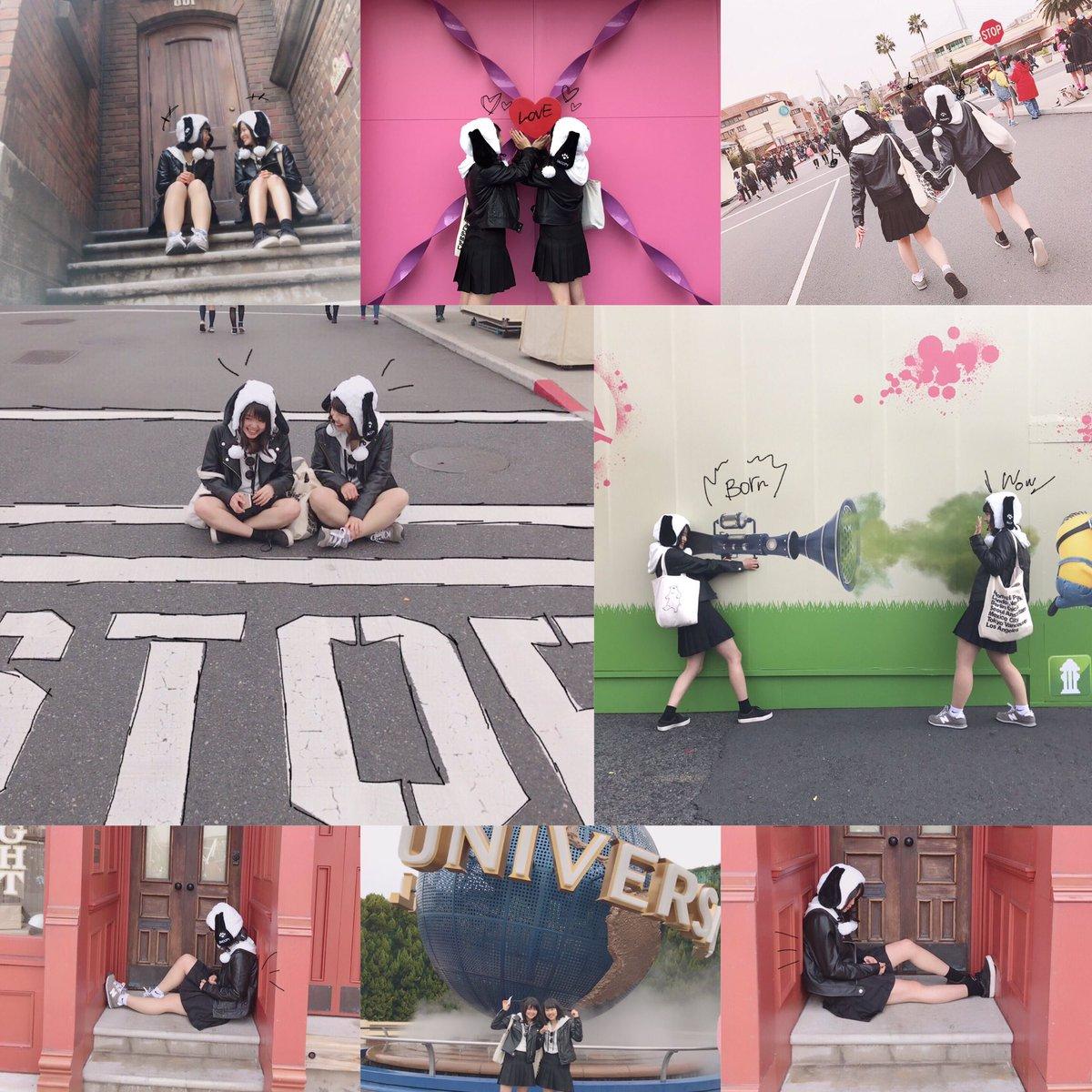 03.23(木) 卒業旅行 inUSJ🌈もうほんとに楽しかったの一言!!!!!!いっちゃんとスヌーピーのイメージで双子で