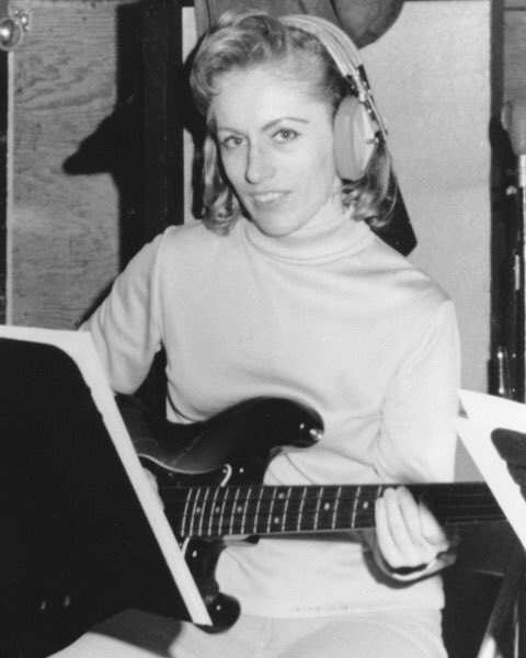 Happy Birthday bassist Carol Kaye 82 today!  Played on est. 10,000 sessions, many hits. Part of the Wrecking Crew.
