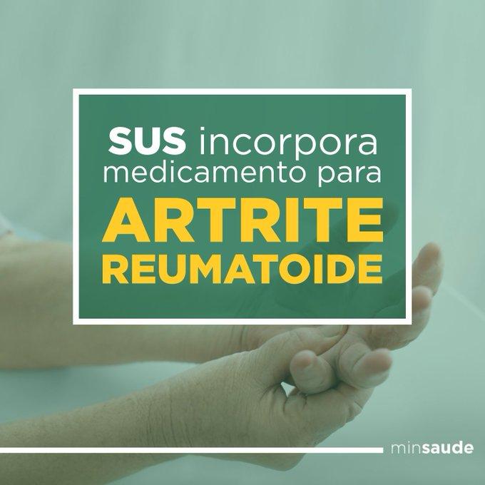 Pessoas c/ artrite reumatoide contarão com mais um medicamento para tratamento no SUS. https://t.co/zhQ5R0uG6e