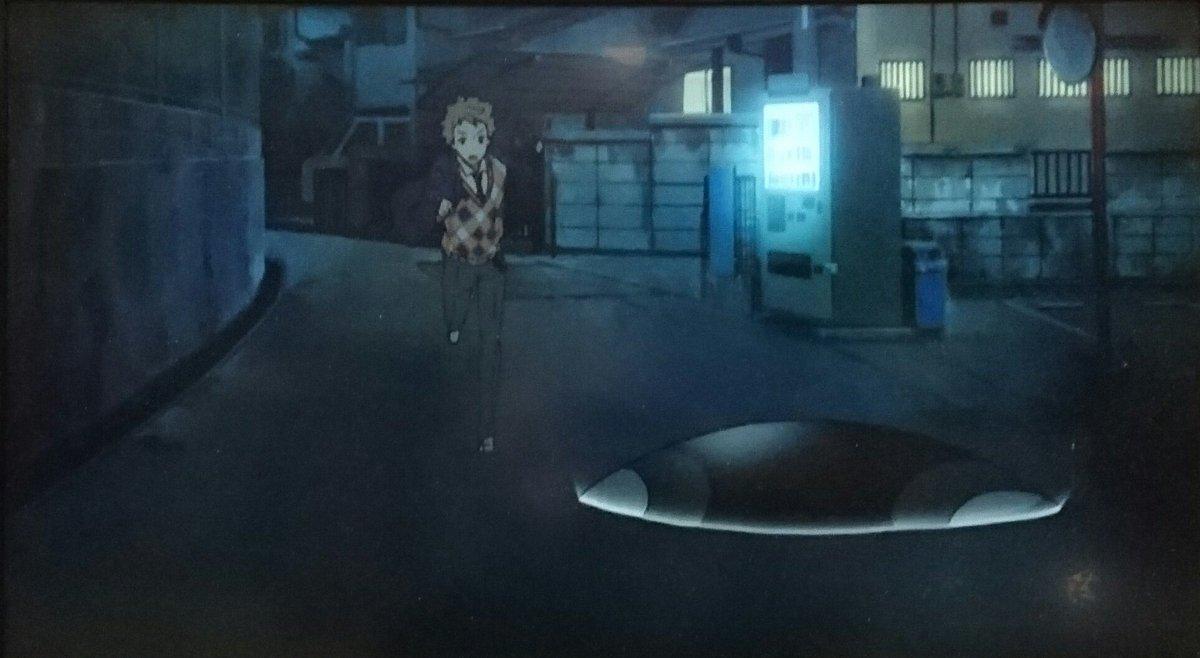夜のカット回収、11話の秋人が学校へ向かうシーンと秋人に蹴りを入れた後の桜ちゃん#kyo_kai#境界の彼方#ヤンのカッ