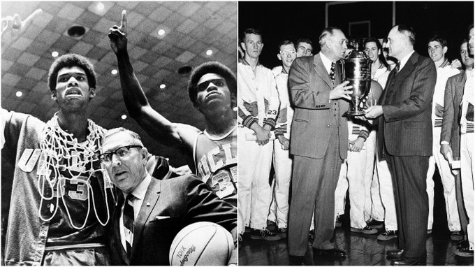 UCLA-Kentucky: the most decorated March matchup in history.  The teams have combined for 19 titles, most ever at time of a tourney meeting.
