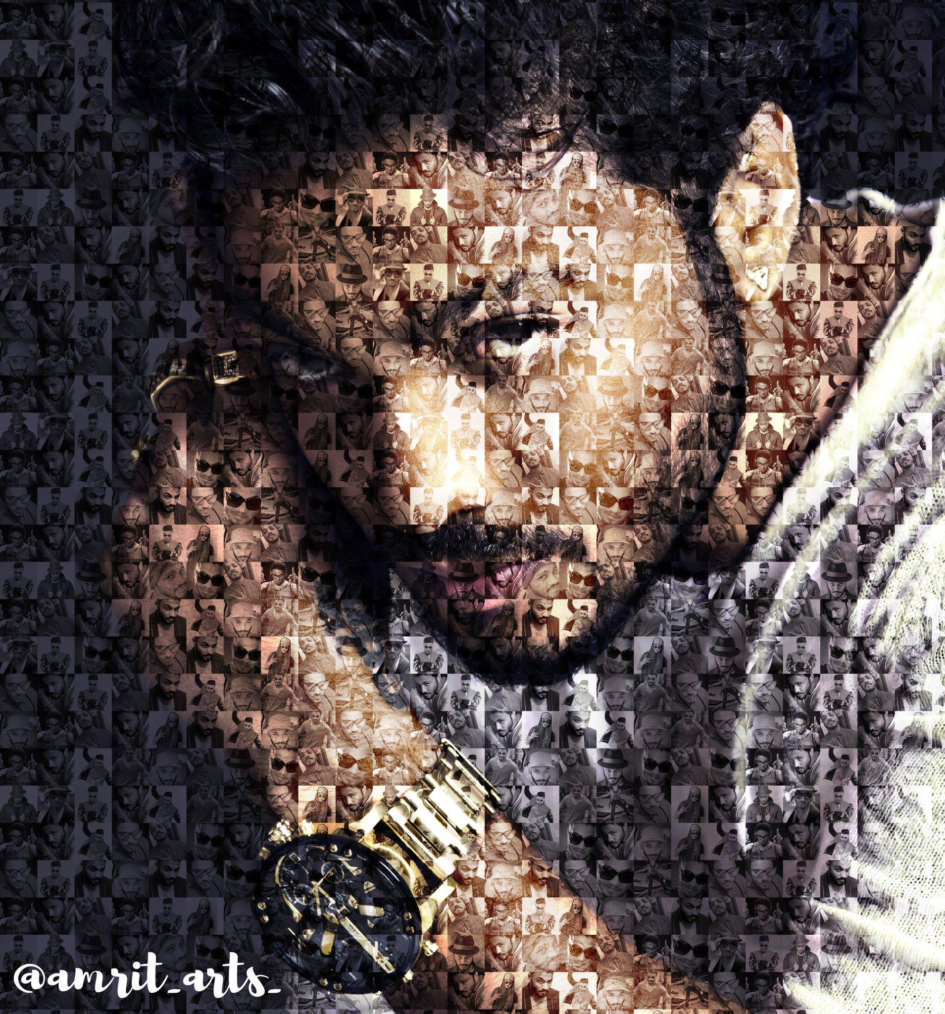 @raftaarmusic veer ji A Digital Mosaic Illustration of yours !!! Kali Kali Photo naal Ek Bada Raaaaaaaaaa... !!!!! ❤❤❤ https://t.co/s71pmGM1MX