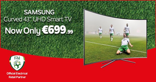 "Embrace 4K UHD picture resolution with the stunning Samsung 43"" Curved Smart UHD TV - https://t.co/33Dp1ww9WA https://t.co/KUxTf8hITo"