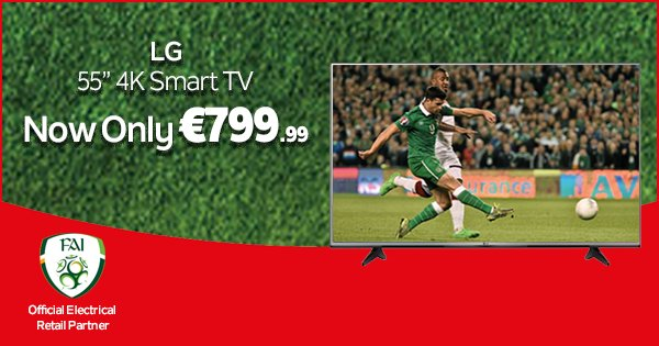 Treat yourself to amazing quality images with this LG 4K Ultra HD TV, now only €799.99! - https://t.co/MHnsXAQlm1 https://t.co/sdPWwuR4FN