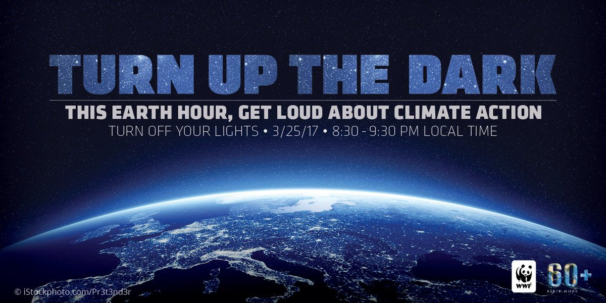 I'm all in for #EarthHour 2017! This year, Earth Hour lands on March 25 at 8:30PM. Join me: https://t.co/yoRPZJHsms