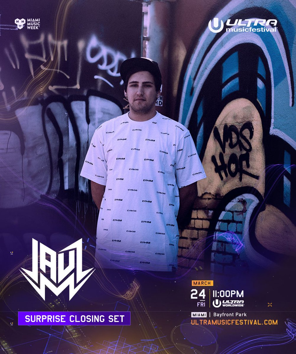 SPECIAL ANNOUNCEMENTJauz will now be closing the Ultra Worldwide Stage tonight at 11pm EDT!