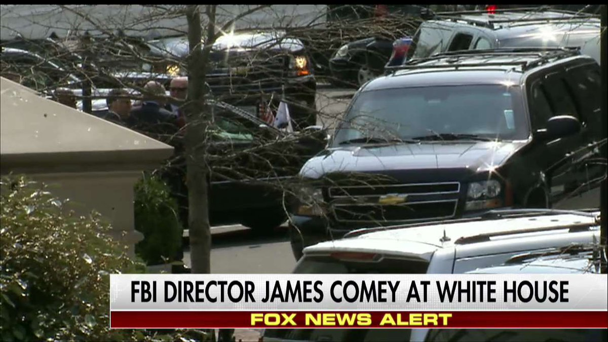 RT @FoxNews: News Alert: FBI Director James Comey at White House. https://t.co/y9qWLsH4OO