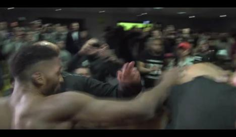 VIDEO   Fighters get fight off to early start at GLORY weigh-ins #mma #ufc https://t.co/OiuJ2N2dZn https://t.co/tmarOoConC