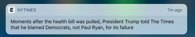 Art of the Squeal: I blame Democrats for a bill Republicans couldn't pass. I blame Obama. I blame Australian Prime Minister & Meryl Streep..