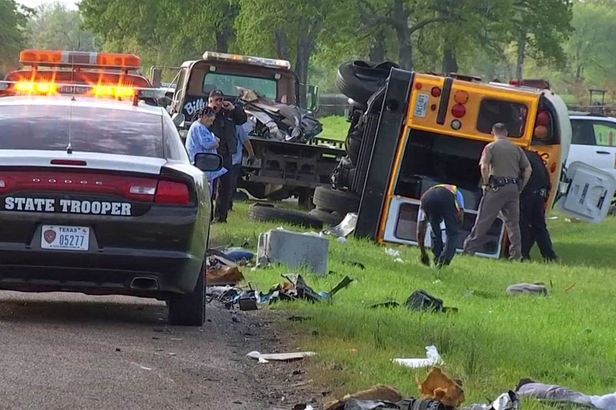 Texas track coach killed and 18 students hurt in head-on collision with 18-wheeler