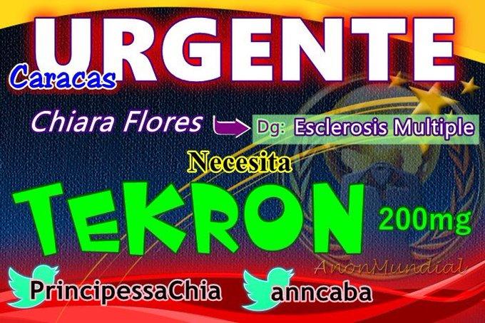 ⛑#SERVICIOPUBLICO⛑ 🏠#Caracas A Chiara le urge TEKRON 200mg #Referencia o #Donacion avisar a 👉🏻@PrincipessaChia @anncaba