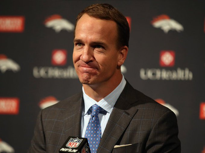 """Happy 41st birthday to \""""the Sheriff\"""", Number 18, Peyton Manning."""
