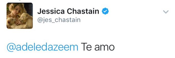 Happy birthday jessica chastain remember when you acknowledged my existence and i had a heart attack