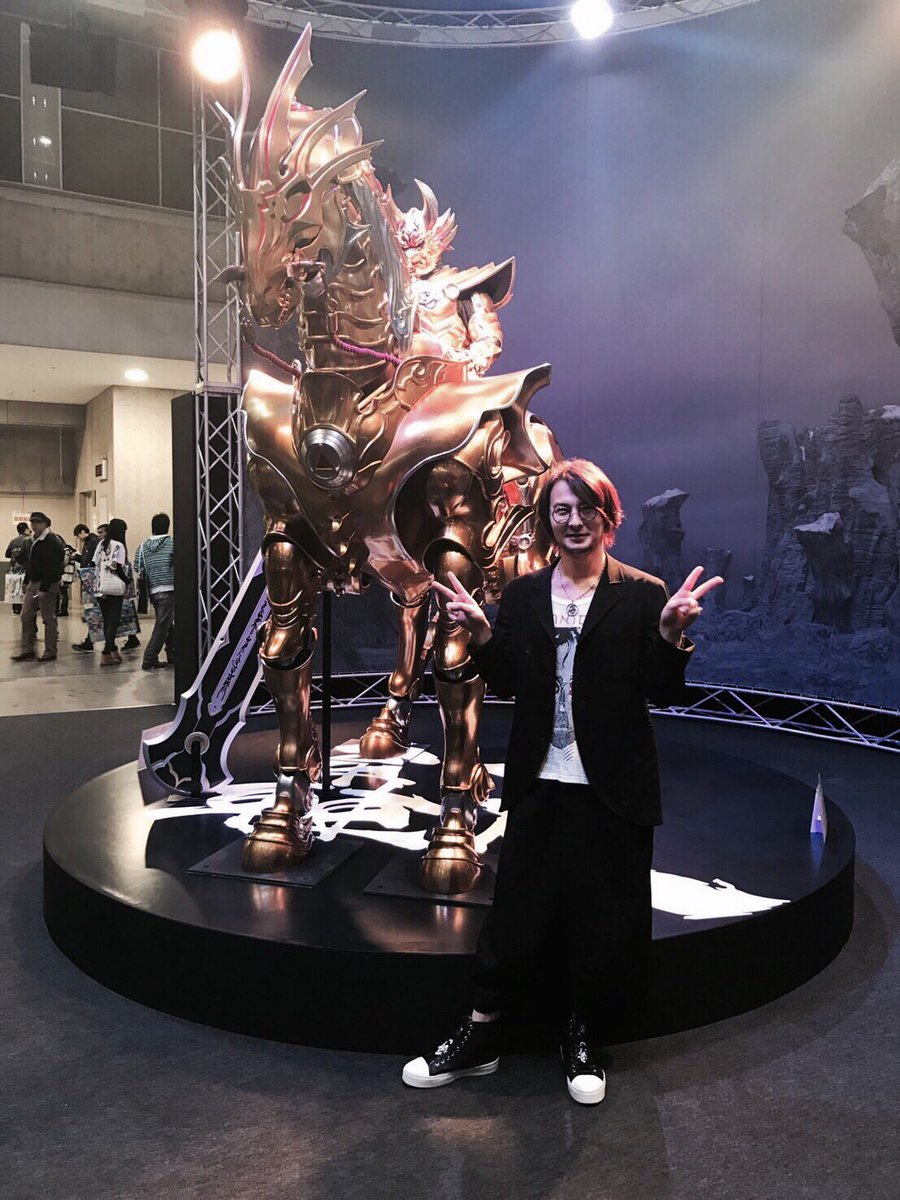 ゚з゚)ノおはモニ♪遊びに来たぜ!アニメジャパン!牙狼ブース!欲しいものがいっぱい!そして轟天でかっっ!!!#fujit