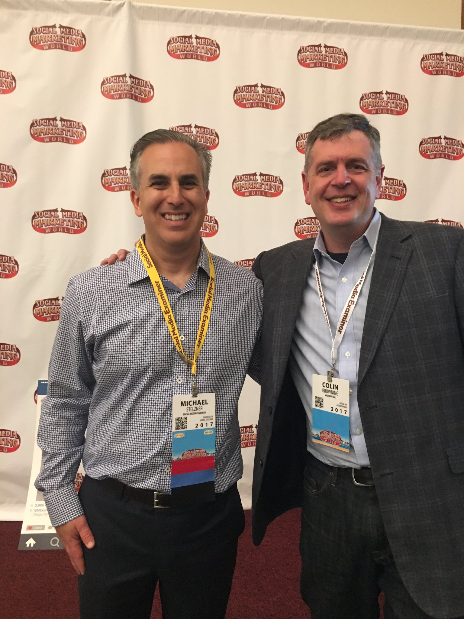 One of many highlights this week at #SMMW17: meeting @Mike_Stelzner & thanking him for his podcasts that have boosted my career https://t.co/amPbTg8JN2