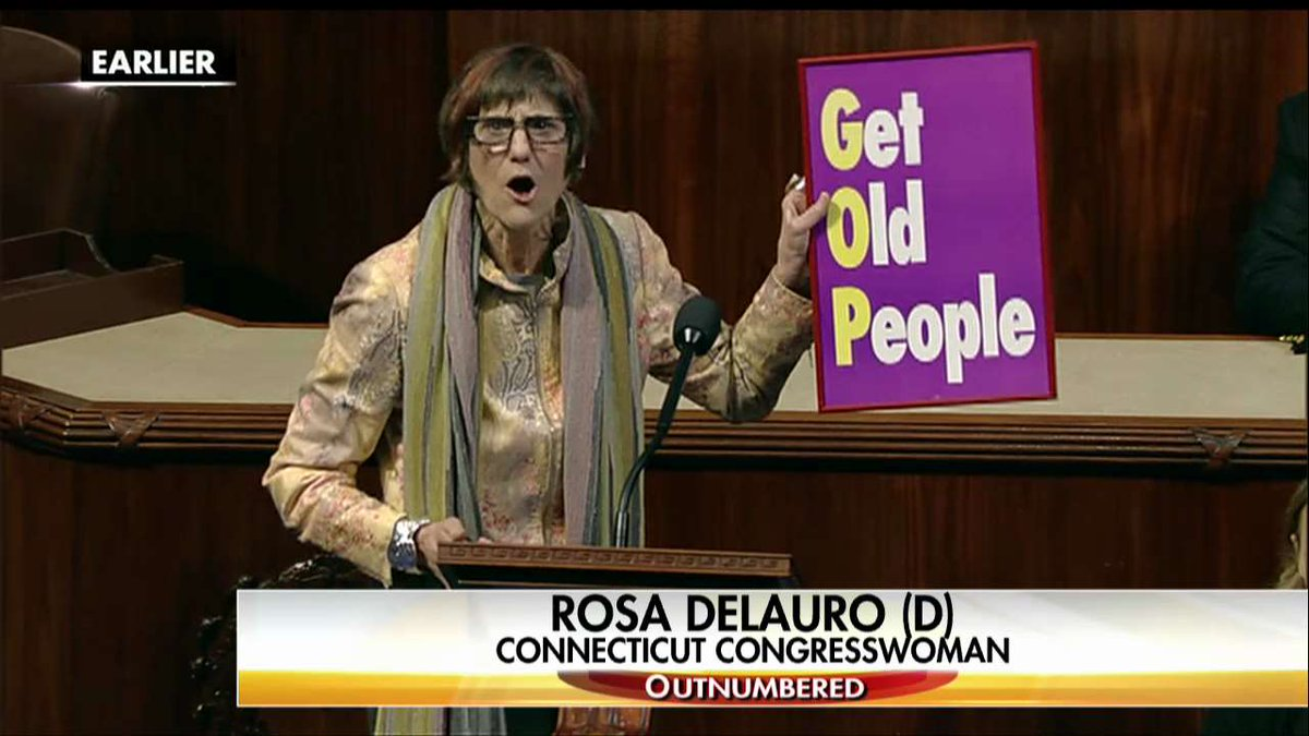 Dem Congresswoman @rosadelauro Rails Against Health Care Bill: GOP Stands for 'Get Old People' https://t.co/XFhtMapa2T