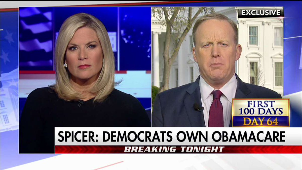 .@PressSec: Now Democrats Must Own Collapsing #ObamaCare #First100 @marthamaccallum https://t.co/Hkly5SIzF3