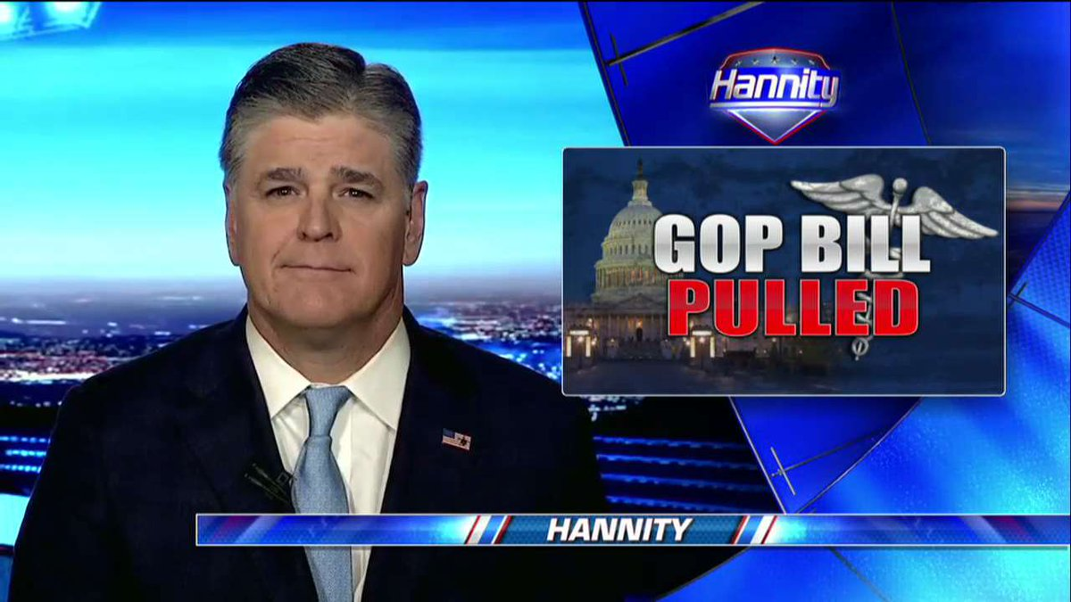 .@seanhannity on Pulled GOP Health Care Bill: 'This Is Not President Trump's Failure' #Hannity #ObamaCareRepeal https://t.co/6JNtS92bcp