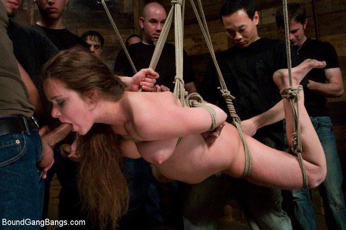 https://t.co/Yn4aQqZJLg #PrincessDonnaDolore #Devaun #bondage #gangbang #blindfold #suspensionbondage