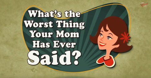 So Funny What is the Worst Thing You Ever Heard Your Mommy Say? https://t.co/sRhs5kbons This is so funn #video 1 https://t.co/R4T8WXQIaH
