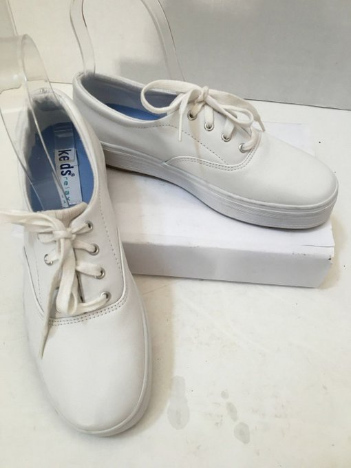 #fashion #style #giveaway Women's Keds Relax White Leather Lace Up Sneakers Shoes Size 6 #rt