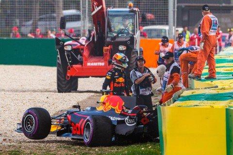 予選Q3クラッシュのリカルド、意気消沈「新世代F1マシンをもっと理解しなければ…」  #F1 #f1jp