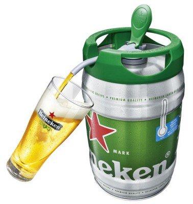 【飲み放題だ!】ハイネケン、5リットルの樽生ビールを発売! https://t.co/jTitnBg1hY  電源や機材を使わずに本格生ビールを楽しめる商品。家庭用冷蔵庫で冷やせるサイズで、開封後でも30日間は飲むことができる。