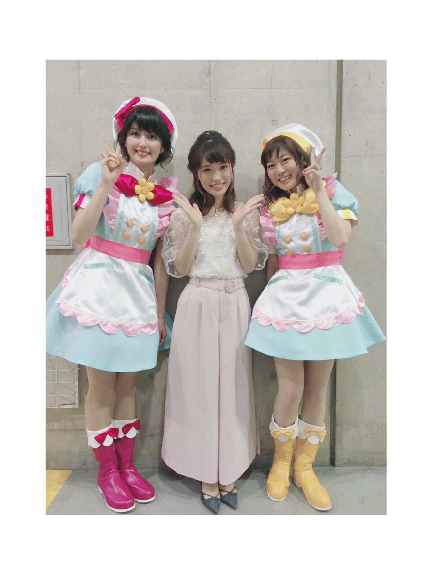 AnimeJapan2017プリキュアのOP、EDを歌ってくださった宮本佳那子さんと駒形友梨さんいちかとひまりのキラパテ