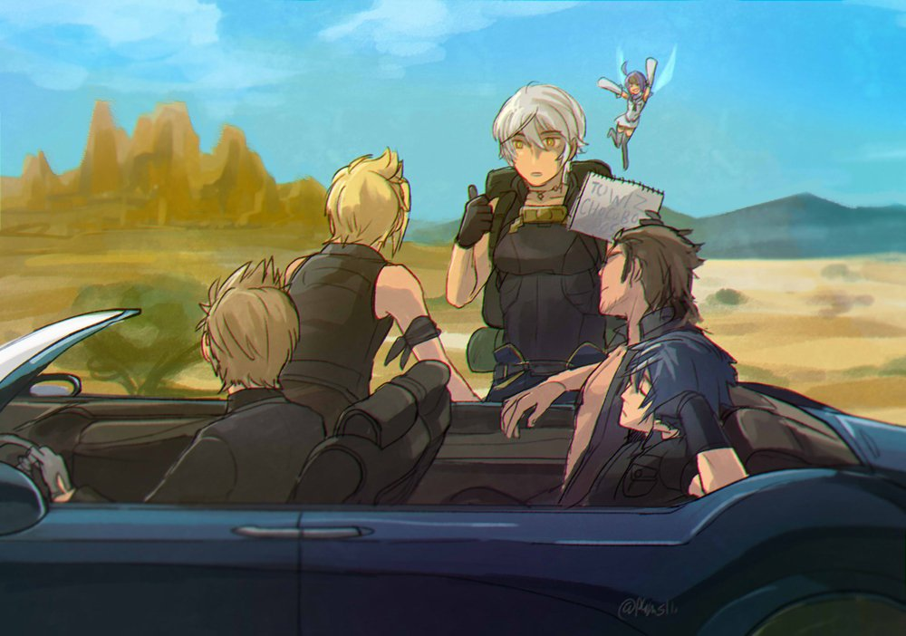 > ffⅩⅤのレガリアに乗車したメビウスFFの主人公ウォルをお願いします!  #odaibako乗車…してないけど