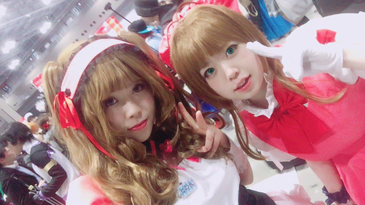 今日はゆうちゃんとAnime Japan!楽しかった!みくるちゃんさくらちゃんというクロスオーバーだったけど付き合ってく