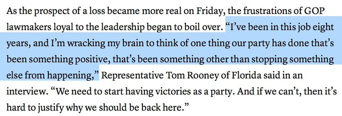 This quote, from FL GOP Rep. Tom Rooney, is one of the crucial quotes of the day. They know they have a problem. https://t.co/1ymOi9bdU2