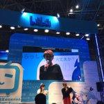 にゃんぼー!ステージ@ビッグサイト はじまりました。日本も中国も大盛況です!#AJ2017  #朴璐美 #にゃんぼー