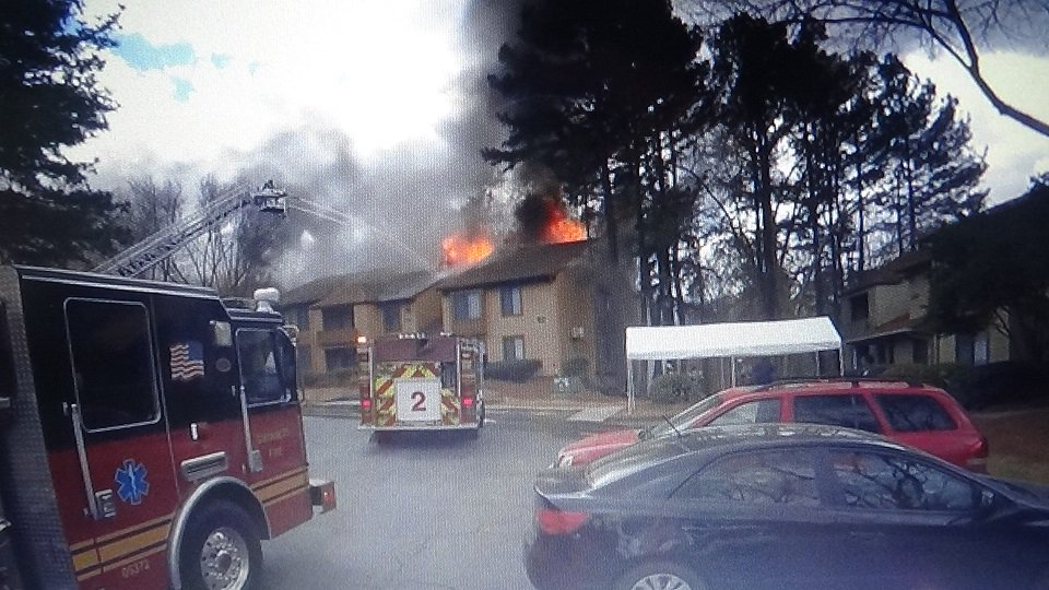 UPDATE: Investigators believe an electrical spark is to blame for the fire that damaged 10 units at Las Palmas Apartments in Gwinnett County