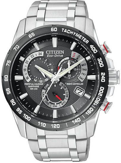 #free #fashion #watches #win #giveaway #np Citizen Man's Stainless Steel Black Dial Perpetual Chronograph Watch AT4008-51E #rt