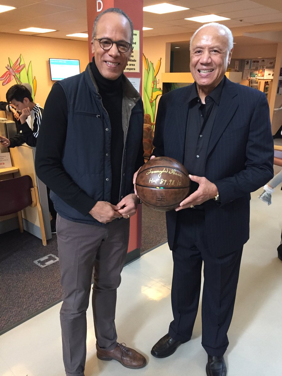 Nba legend lenny wilkens signed this basketball memorating his