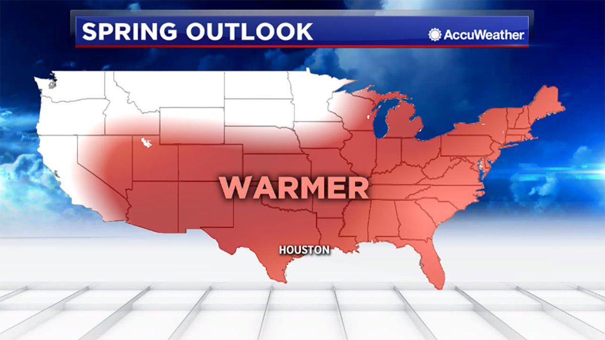 NOAA is forecasting a warmer, wetter spring for the Houston area. #ABC13 https://t.co/oOcEfuGYzZ