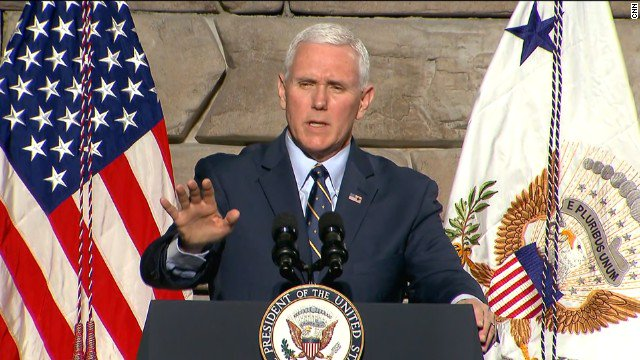 'The American people want Obamacare gone and, as the President said today, don't worry, America,' Pence tells crowd. https://t.co/HGrGmT8awE