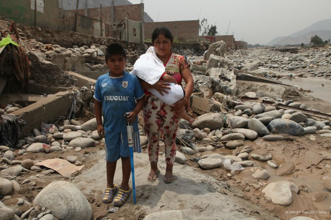 #Peru: Hundreds of thousands affected by floods. Many people have lost homes & children have been left vulnerable https://t.co/xcBJndwVHK