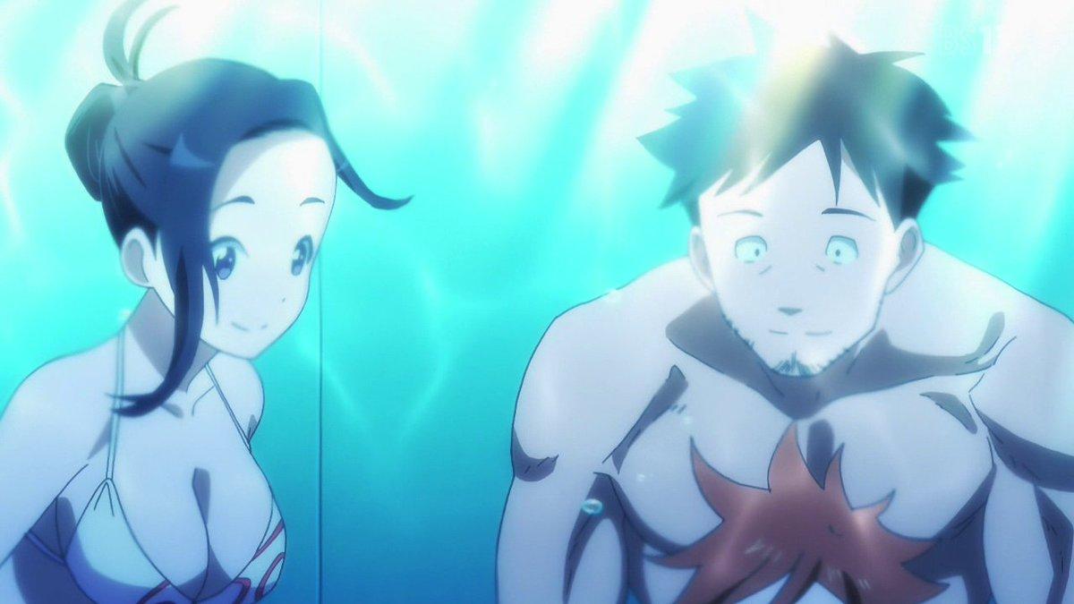 アニメ『亜人(デミ)ちゃんは語りたい。』の最終話に短いけど、水中シーンあった。