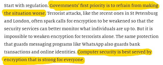 .@TheEconomist comes out solidly against the @FBI Director's war on computer security. https://t.co/EiSxgjkCEj